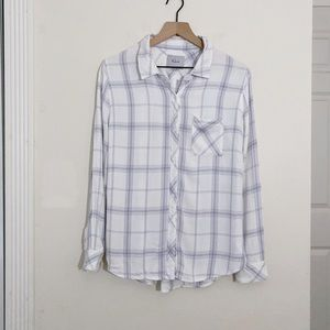Rails hunter white and blue plaid button down